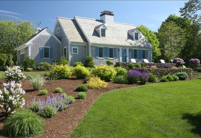 38 best images about hill landscaping on pinterest for Landscaping for cape cod style houses
