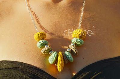 Croscé - Creative Crochet & Sewing: collane all'uncinetto - crocheted necklaces