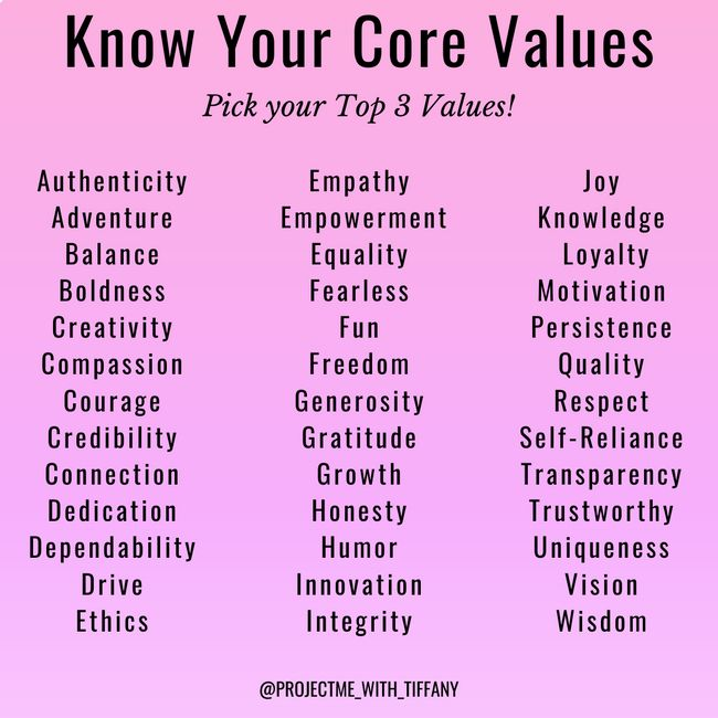 Personal values top 7 Steps