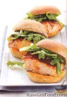 Фото к рецепту: Бургеры с лососем