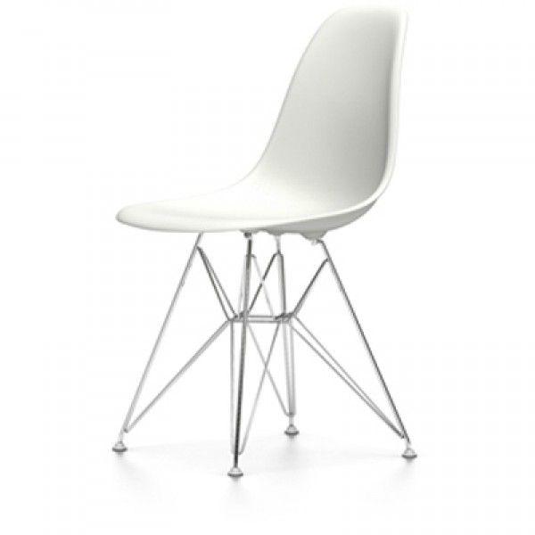 Eames DSR stoel met verchroomd onderstel | Vitra