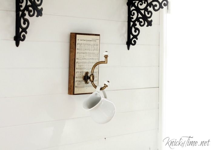 This sweet and simple farmhouse style wall hook is easy enough for kids to make…