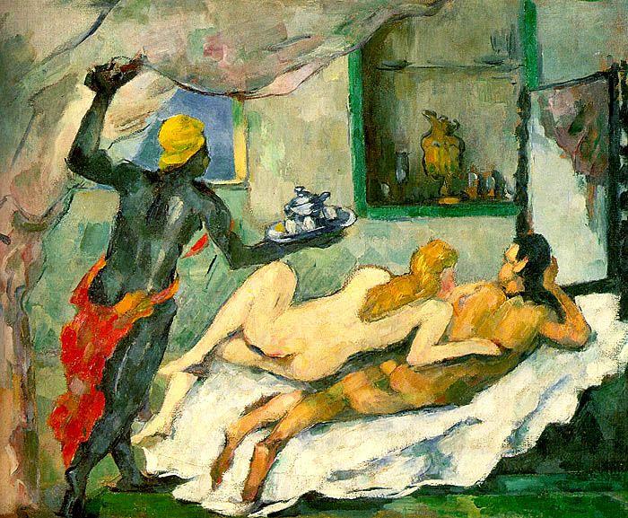 "Paul Cézanne ""Pomeriggio a Napoli"", 1866-1877. Canberra, Australian National Gallery."