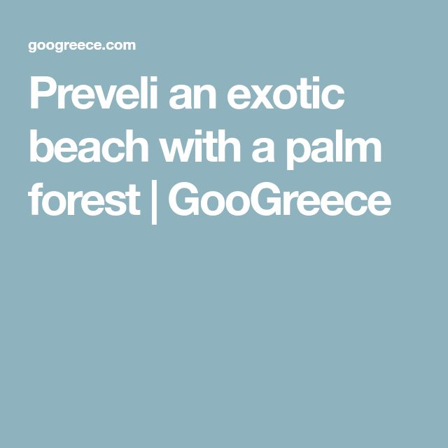 Preveli an exotic beach with a palm forest | GooGreece