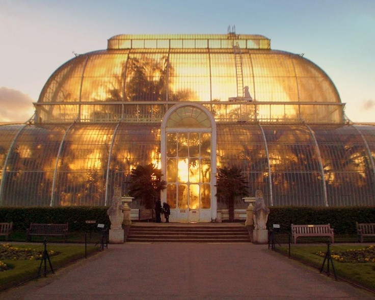Palm House at Kew Gardens... the pinnacle of design. Alma's father would have been competing with this at White Acre, in Philadelphia.