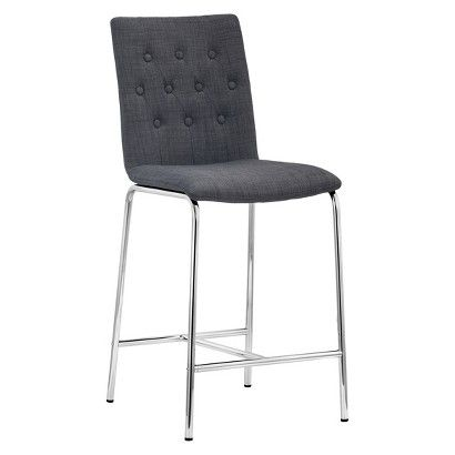 Zuo 24 Quot Counter Stool Graphite Set Of 2 Furniture