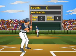 Baseball Math - Adding Decimals Game: In this baseball math game students will try to hit as many homeruns as possible to get to answer questions about adding decimals.