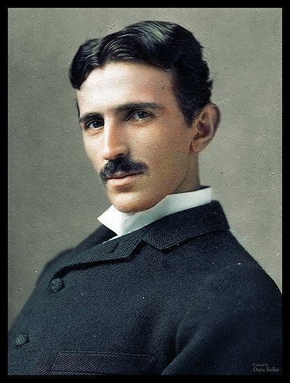Colorized 1890 Nikola Tesla Photograph