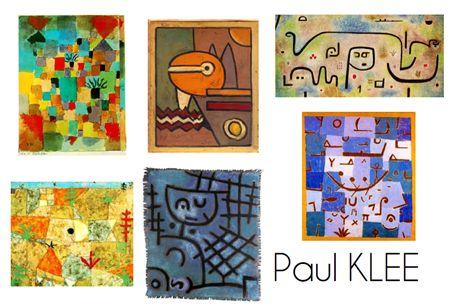 chasse aux graphisme à partir d'oeuvres de Klee