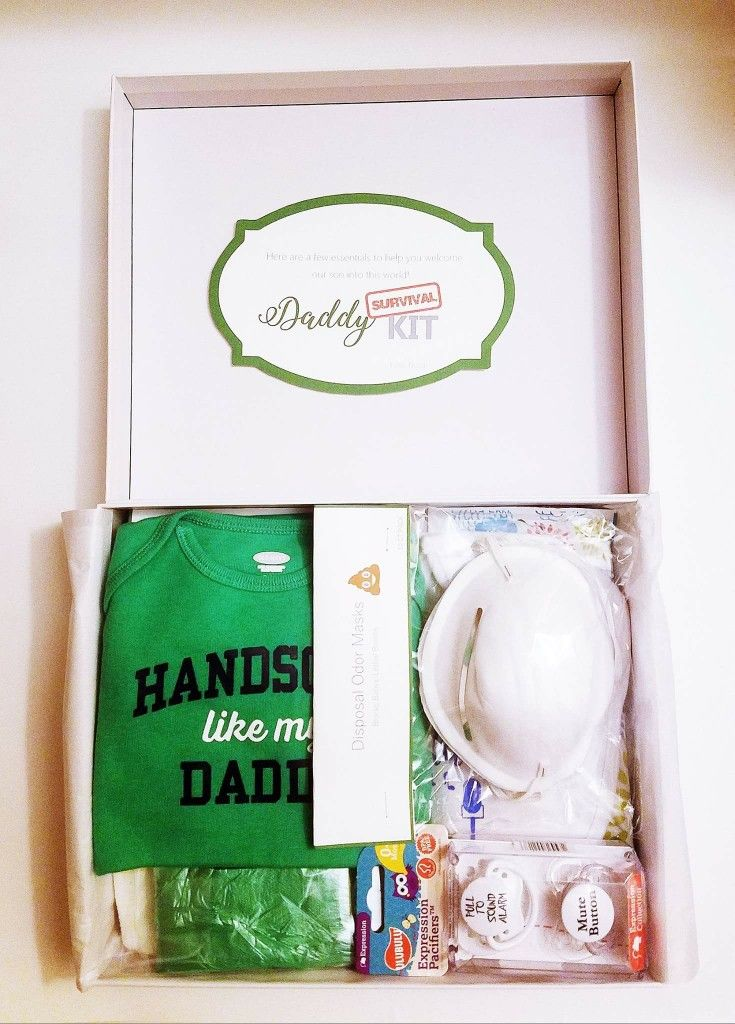 How will the new dad combat those dreaded diaper changes with confidence? Get him the ...New! Daddy Survival Kit!  Newborn, Baby, Baby Shower, Gift Basket For Baby