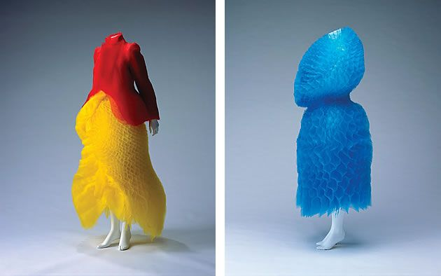 Work by Junya Watanabe from the 'Future Beauty: 30 Years of Japanese Fashion' exhibition (photos by Takashi Hatakeyama).