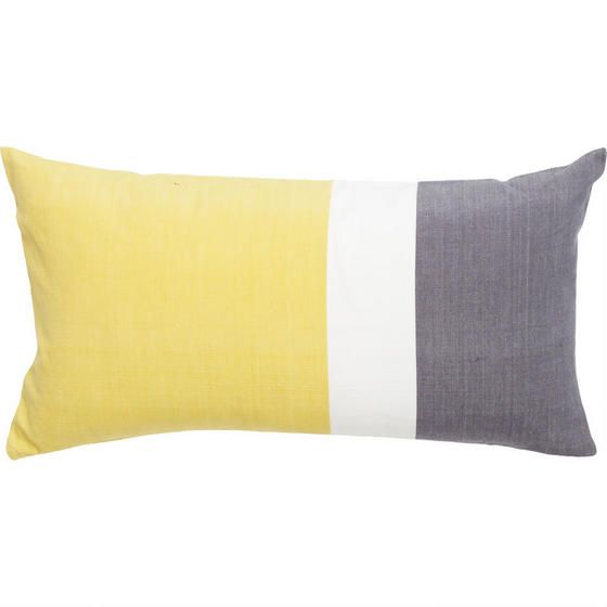 Delano Stripe Toss Cushion - Lemon