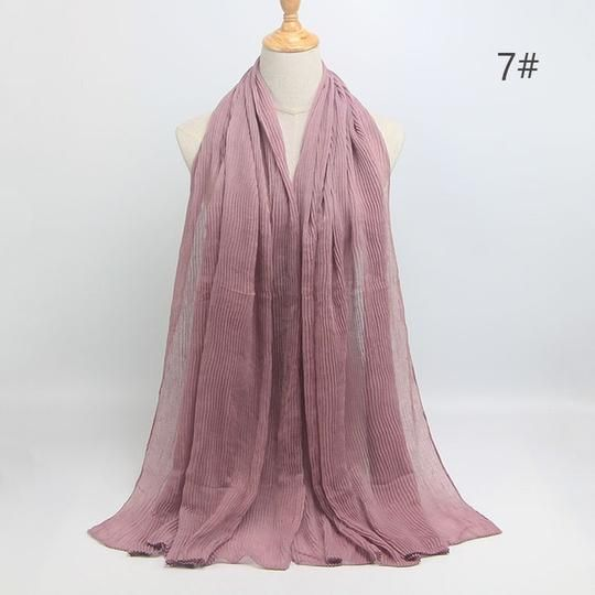 Newest Bubble Plain Cotton scarf Hijabs hot design Winter Warm Wave Wrinkled Muslim wrap hijab scarf/scarves 20 colors