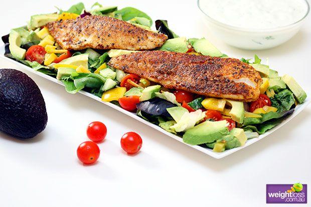 Atkins Diet Recipes: Creole Fish Salad. #HealthyRecipes #DietRecipes #WeightLoss #WeightlossRecipes weightloss.com.au