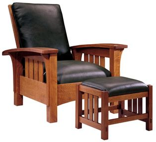 89 406 Lc Loose Cushion Bow Arm Morris Chair And Ottoman