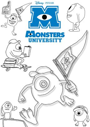 34 best images about monsters university on Pinterest  Bingo