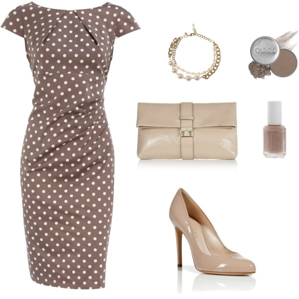 love this dress!!!Dots Dresses, Fashion, Pretty Woman, Polka Dots, Classy Polka, Cute Dresses, Poka Dots, Work Outfit, My Style