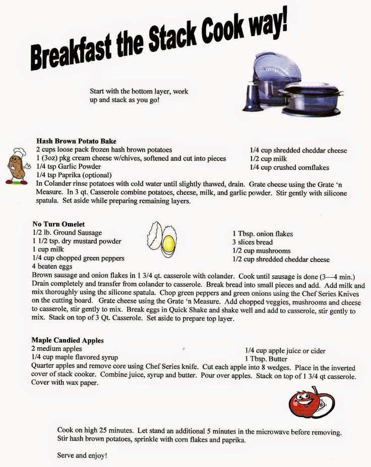 Easy Recipes: Breakfast in the Stack Cooker
