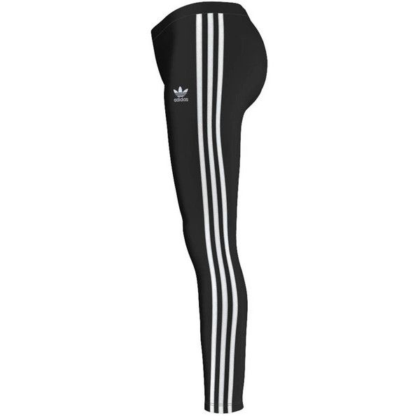 adidas originals 3 Stripes Leggings (121.975 COP) ❤ liked on Polyvore featuring pants, leggings, striped trousers, striped pants, adidas originals, stripe pants and stripe leggings