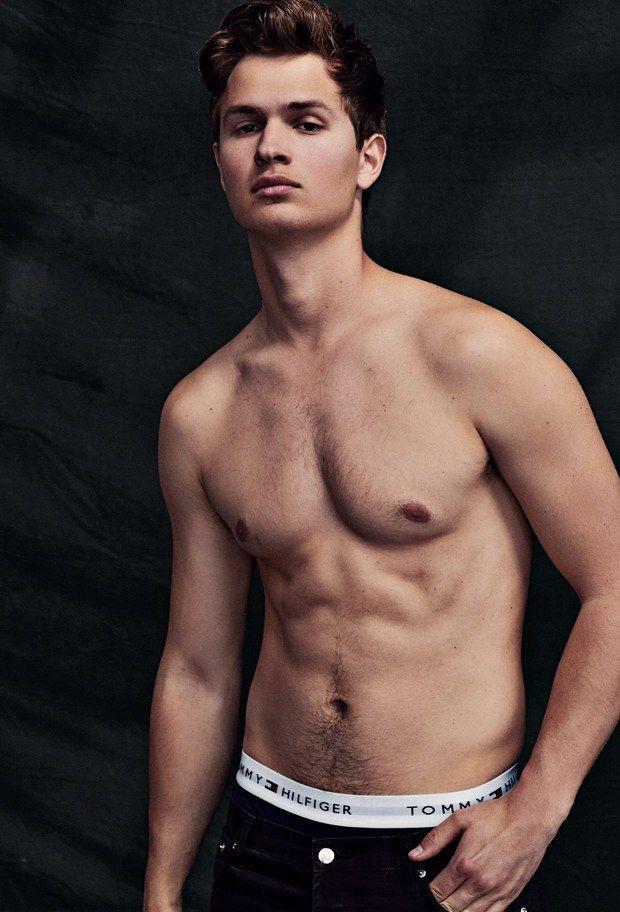 ansel elgort shirtless