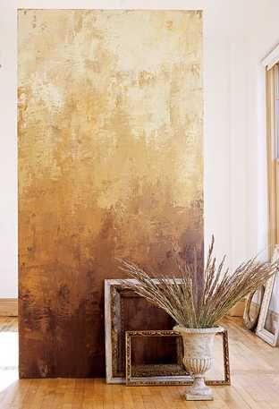 ombre Venetian plaster wall