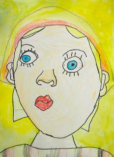 Exploring Art: Elementary Art: Kindergarten Self Portraits