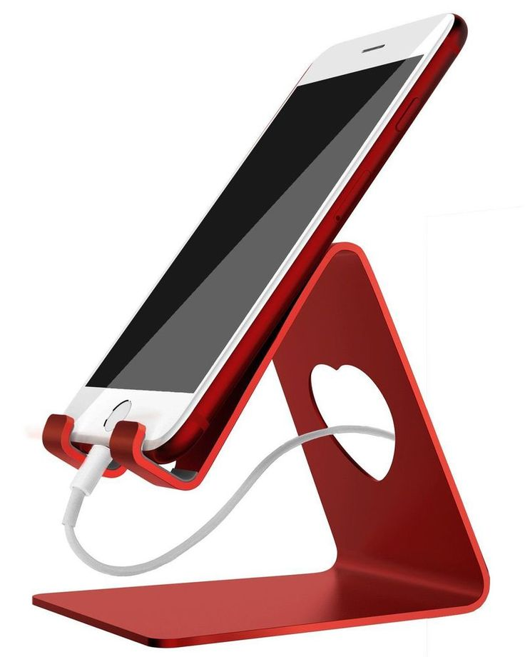 Aluminum iPhone Pro Stand Table Desk Mini Tablet Red Mount Hold Universal Phone #AluminumiPhonePro