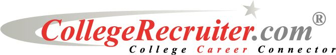 """CollegeRecruiter"" job search engine for people fresh out of school and current students."