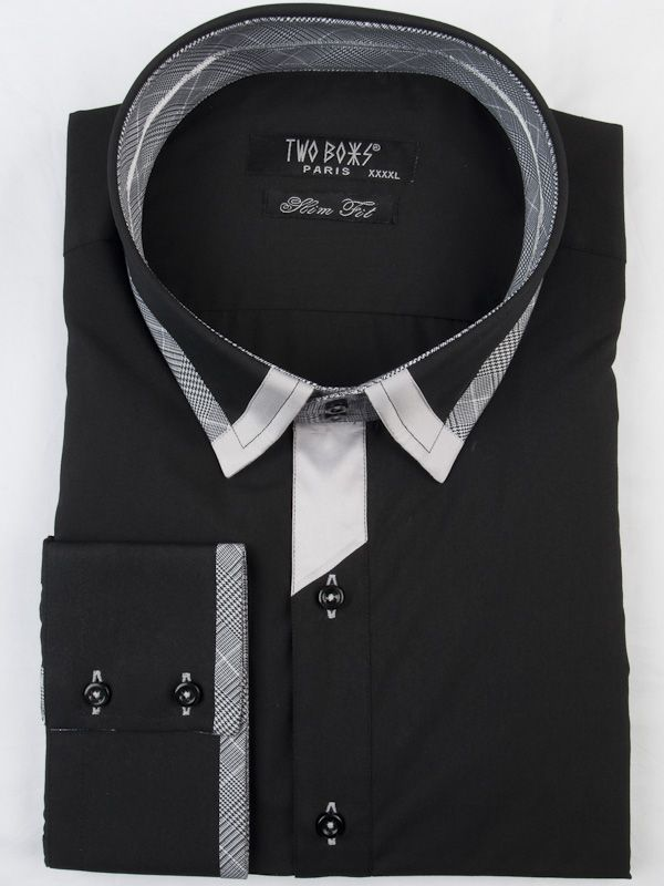 0002600 T& B Shirt-black/White