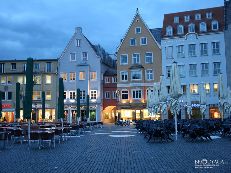 Augsburg, Germany - my favorite toy store is in the background.