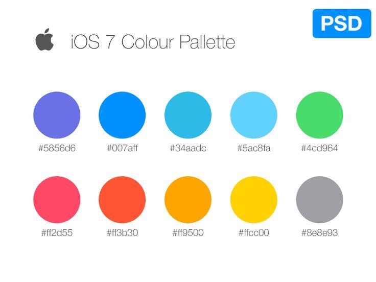 iOS7 Color Pallete by Jordi Manuel