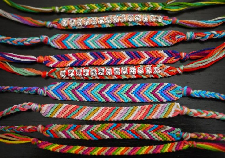 DIY friendship bracelets- all you need is embroidery thread and patience!