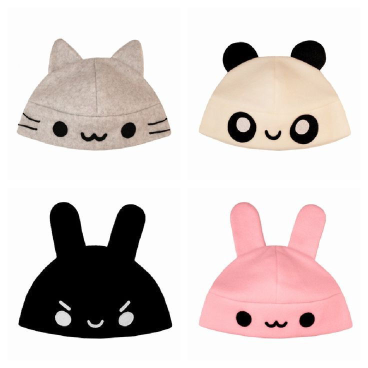 super kawaii hats. I want them all!