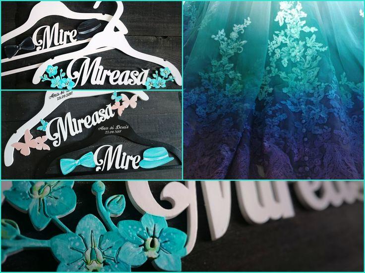 Something Turquoise - Bridal - Wedding Hangers