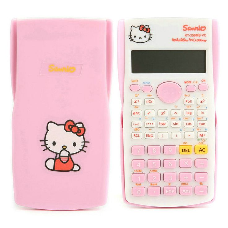 Hello Kitty & Doraemon Function Calculator Uniwise 10+2 Digital Display 2-Line LCD Scientific Calculator, Shipping No Battery //Price: $18.69 & FREE Shipping //     #hashtag2