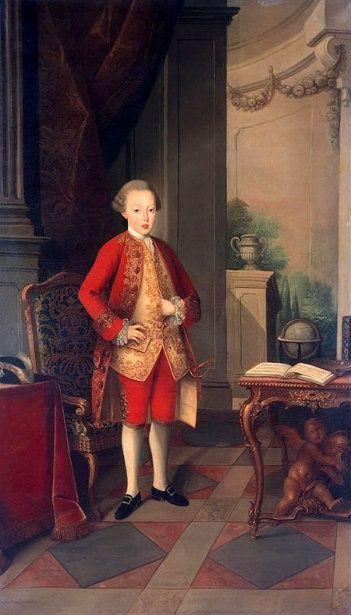 El- Rei D. José I de Portugal e do Algarve, O Reformador. Retrata O Princípe da Beira.