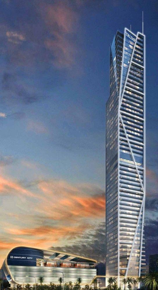 Trump Tower Manila, Philippines by Century City Development Corporation Architecture :: 56 floors, height 250m