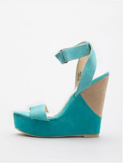 Cool Turquoise Wedges