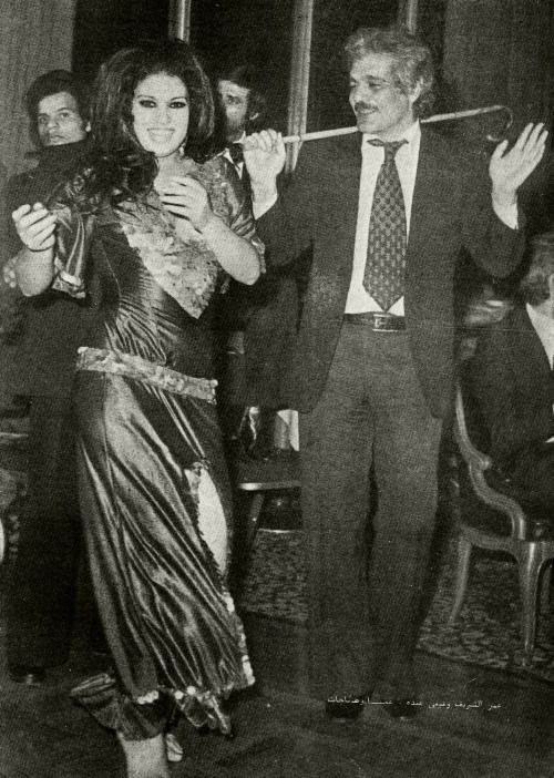 Fifi Abdou dancing with Omar Sharif! Via Belly Dance Classics