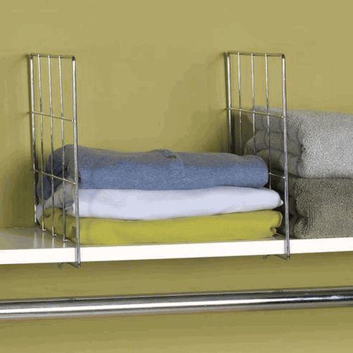 Household Essentials Wire Shelf Divider Set, This Is A Great Idea For Closet  Shelves!