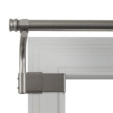 No drilling or holes in your walls/window frames {Adjustable Gripper Brushed Nickel Window Curtain Rods from Bed Bath & Beyond}