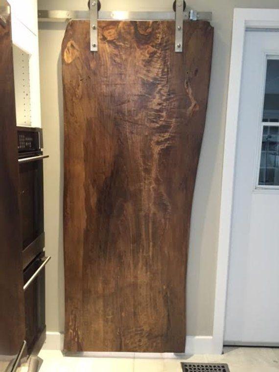 Schiebeturen Live Rand Holz Tur Schiebe Vorhange Etsy Live Edge Wood Custom Wood Doors Sliding Doors