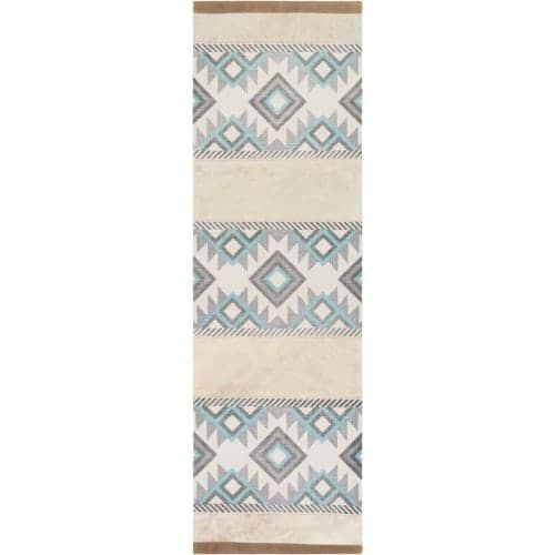 Surya LAS7000-268 Lasso 3' x 8' Runner Cotton Hand Crafted Southwestern Area Rug - gray