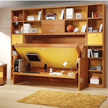Your square footage is limited, and you have to be able to have your furniture and a place to walk around. Your walls and ceiling, on the other hand, may go unused, but they don't need to! In the bedroom, you could add shelves or hooks to store purses, jewelry, pictures, whatever.
