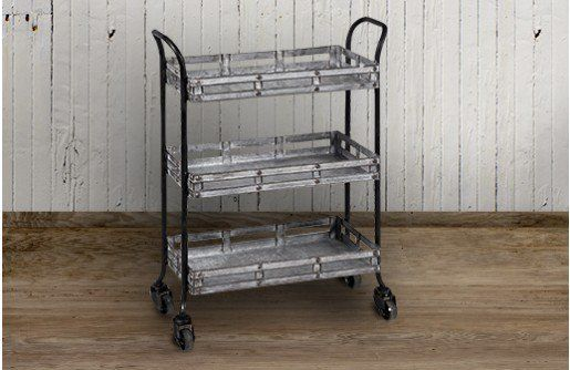 Tiered Rolling Cart, Metal Rolling Cart, Metal Bar Cart, Our tiered rolling cart is a metal bar cart that rolls into any space perfectly. For more fun metal rolling carts visit, www.decorsteals.com OR www.facebook.com/decorsteals