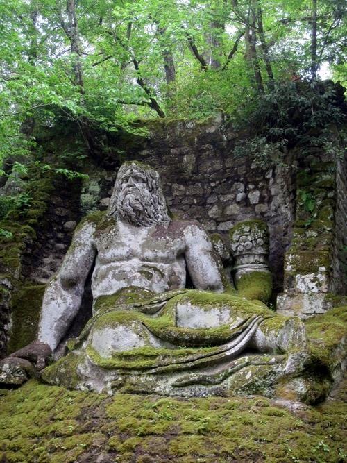 Sacred Grove of Bomarzo, Viterbo, Italy. Vicino (Prince of Orsini) and Pirro Ligorio, 1552