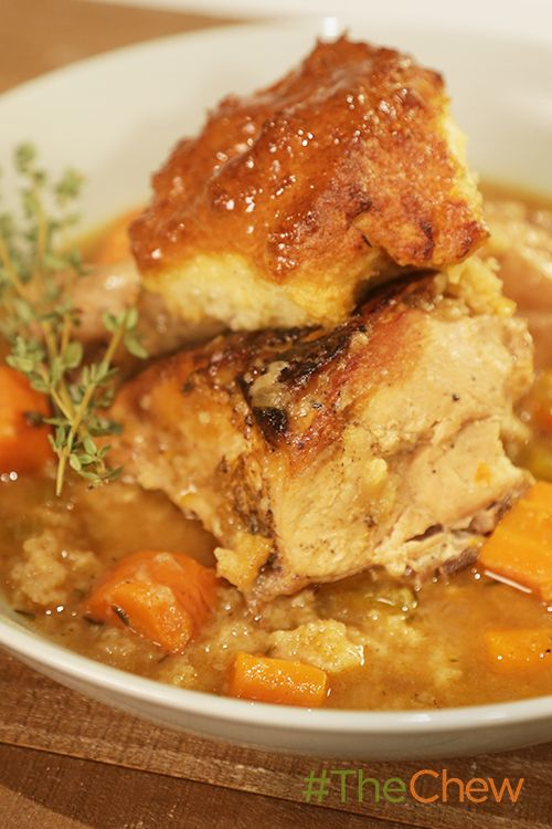 http://abc.go.com/shows/the-chew/recipes/chicken-with-greek-yogurt-drop-biscuits-michael-symon