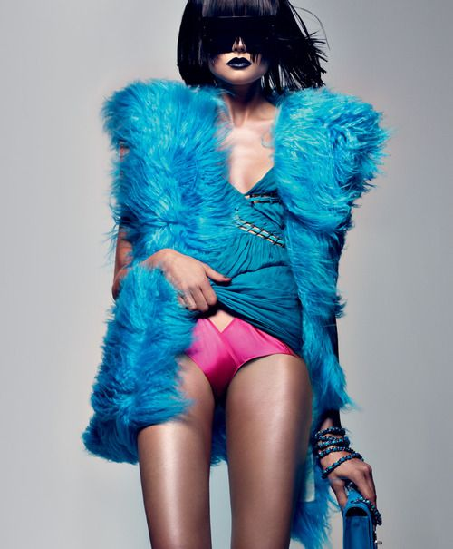 contrasting blue lips: September 2009, Craig Mcdean, Turquoise, Color, Blue Fur, Fashion Photography, Fashion Editorial, Interview September