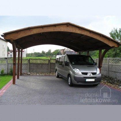 Drewniana dwustanowiskowa wiata garażowa (Carport) Nevada II