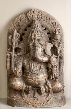 Seated Ganesha, 12th-13th century, Karnataka, India